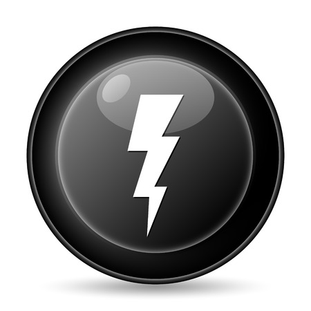 Lightning icon. Internet button on white background. photo