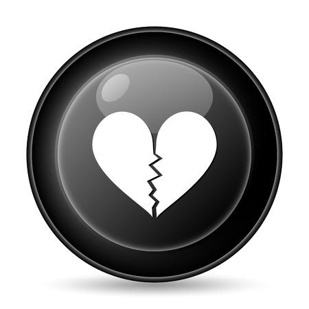 delusion: Broken heart icon Stock Photo
