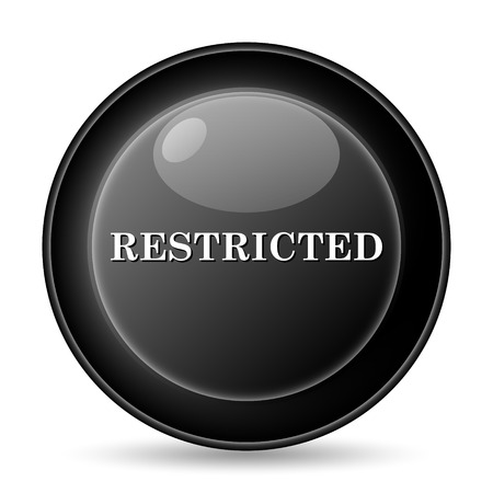 Restricted icon. Internet button on white background. Stock Photo