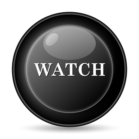 Watch icon. Internet button on white background. photo