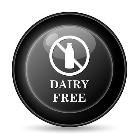 intolerant: Dairy free icon. Internet button on white background. Stock Photo