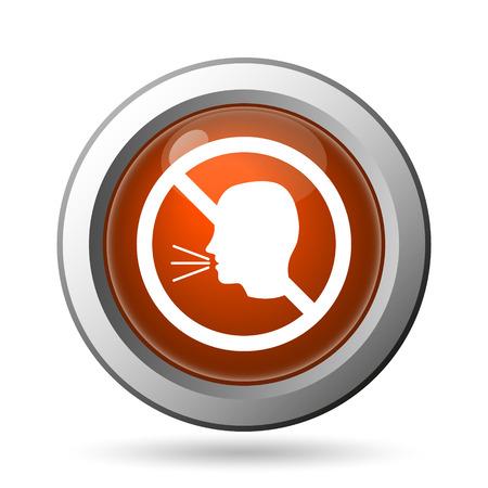 noisily: No talking icon. Internet button on white background.