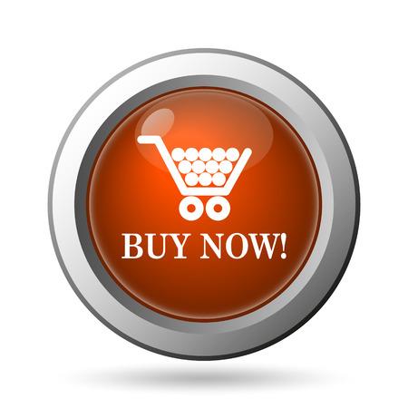 Buy now shopping cart icon. Internet button on white background. photo