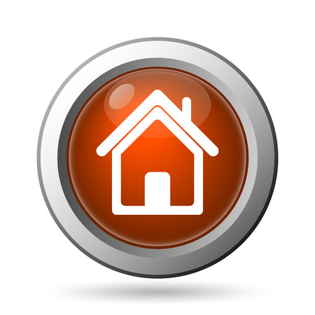 real state: Home icon. Internet button on white background.