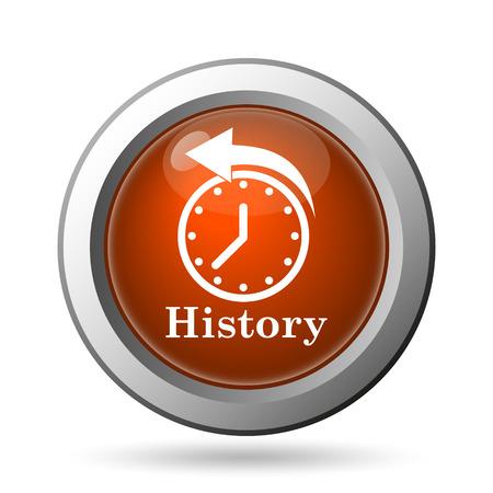 revolve: History icon. Internet button on white background.