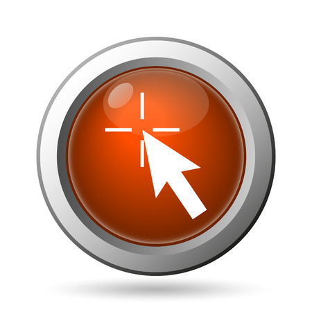 Click here icon. Internet button on white background. photo