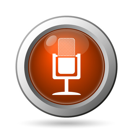 air show: Microphone icon. Internet button on white background.