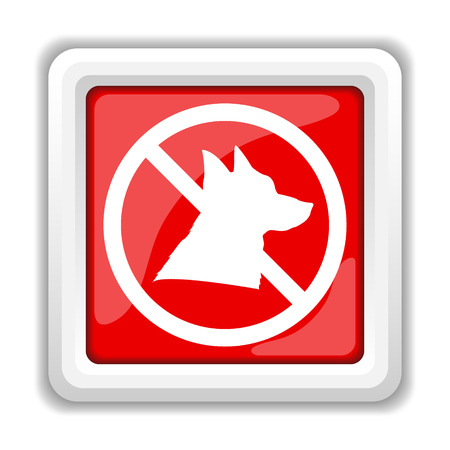 excluded: Forbidden dogs icon. Internet button on white background. Stock Photo