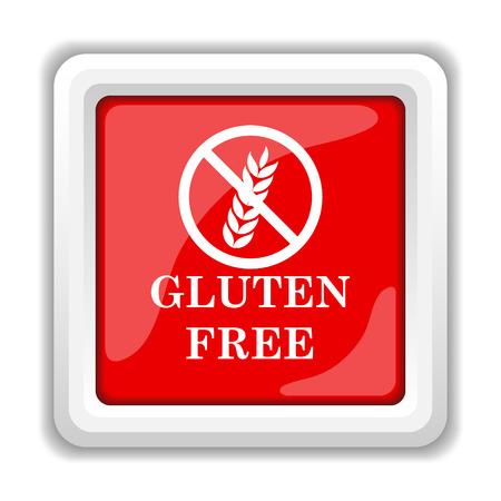 celiac: Gluten free icon. Internet button on white background.