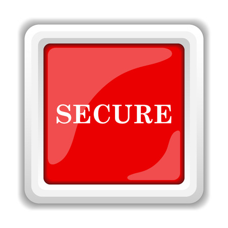 Secure icon. Internet button on white background. photo