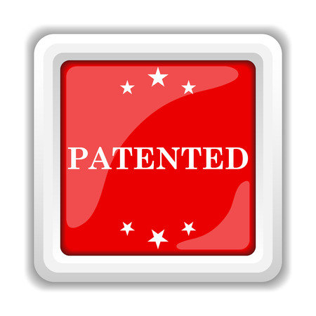 ownership: Patented icon. Internet button on white background.