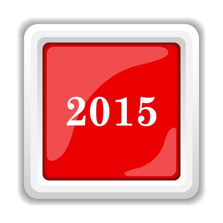 Year 2015 icon. Internet button on white background. photo