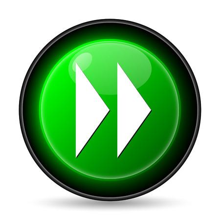 Fast forward sign icon. Internet button on white background. photo