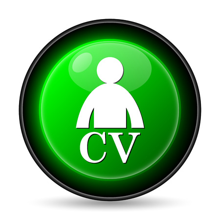 reference: CV icon. Internet button on white background.