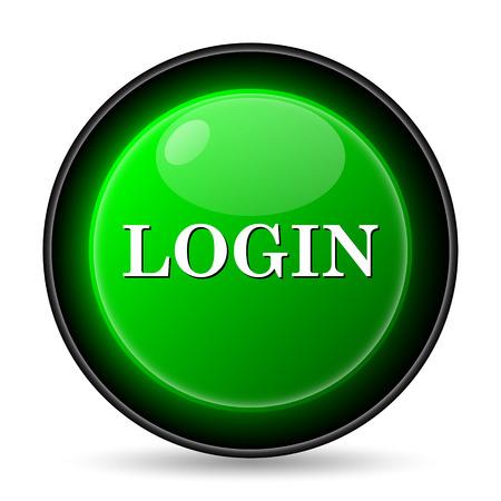 login icon: Login icon. Internet button on white background. Stock Photo