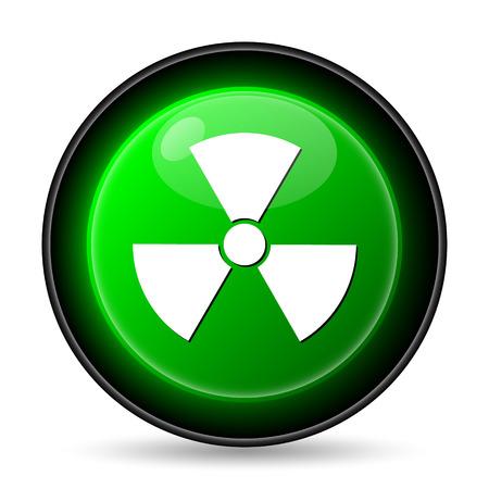 nuke: Radiation icon. Internet button on white background.