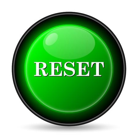 Reset icon. Internet button on white background. photo