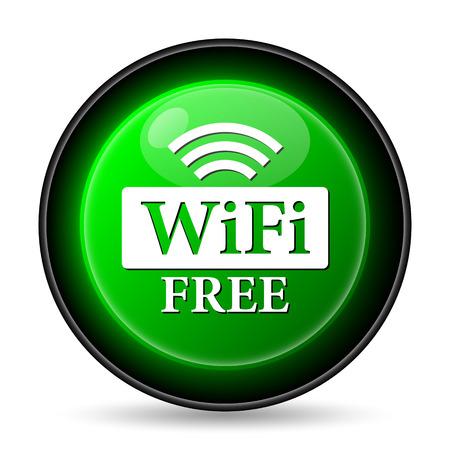 WIFI free icon. Internet button on white background.