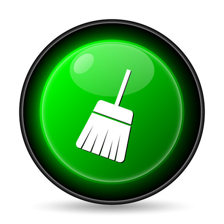 handtool: Sweep icon. Internet button on white background.