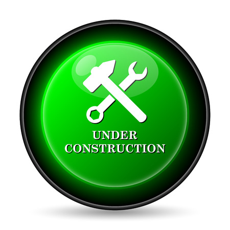 reconstruction: Under construction icon. Internet button on white background.
