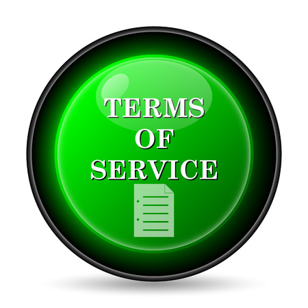 Terms of service icon. Internet button on white background. photo