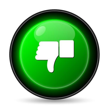 thumb down icon: Thumb down icon. Internet button on white background.