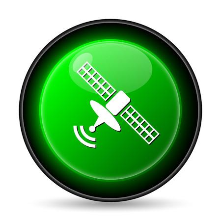space television: Antenna icon. Internet button on white background.