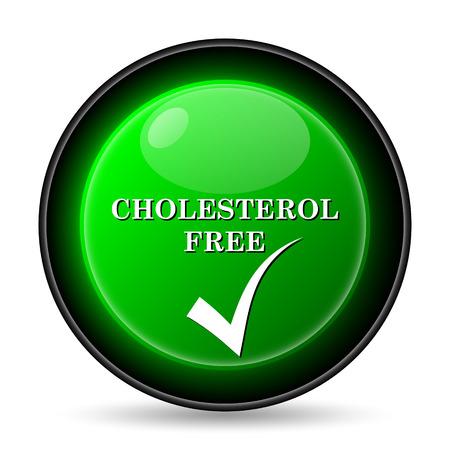 no cholesterol: Cholesterol free icon. Internet button on white background.