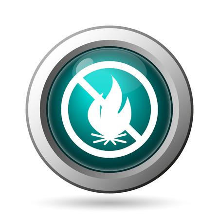 smoke alarm: Fire forbidden icon. Internet button on white background. Stock Photo