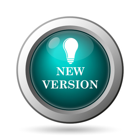 improved: New version icon. Internet button on white background. Stock Photo