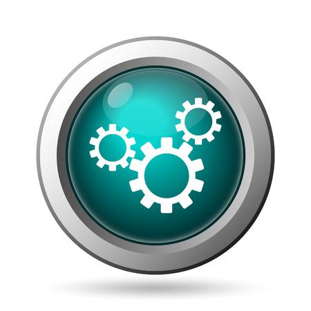 customization: Settings icon. Internet button on white background. Stock Photo