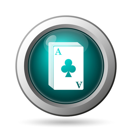 Deck of cards icon. Internet button on white background. photo