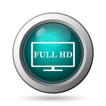 Full HD icon. Internet button on white background. photo