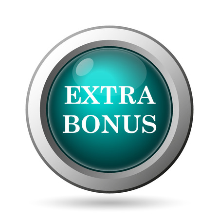 Extra bonus icon. Internet button on white background.