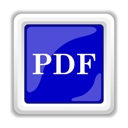 PDF icon. Internet button on white background. photo