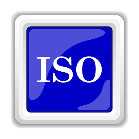 norm: ISO icon. Internet button on white background.