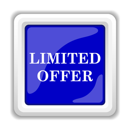 peel off: Limited offer icon. Internet button on white background.
