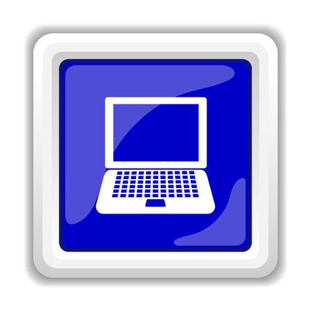 Laptop icon. Internet button on white background. photo