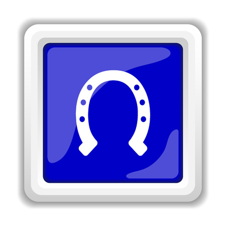 superstition: Horseshoe icon. Internet button on white background.