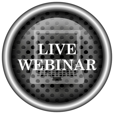 Live webinar icon. Internet button on white background. photo