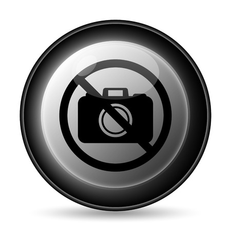 Forbidden camera icon. Internet button on white background. photo