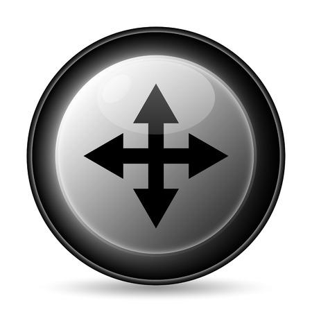 minimize: Full screen icon. Internet button on white background. Stock Photo