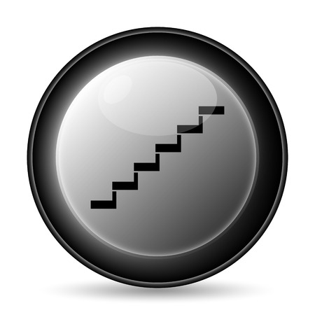Stairs icon. Internet button on white background. photo
