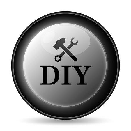 diy: DIY icon. Internet button on white background.