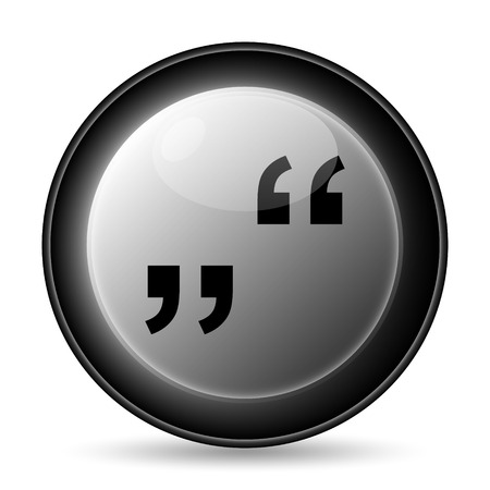 inverted: Quotation marks icon. Internet button on white background.
