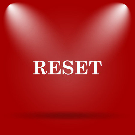 redesign: Reset icon. Flat icon on red background.