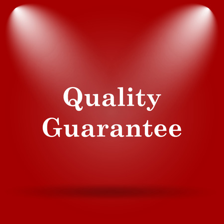 best security: Quality guarantee icon. Flat icon on red background.