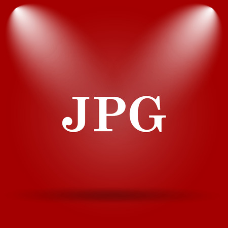 jpg: JPG icon. Flat icon on red background.
