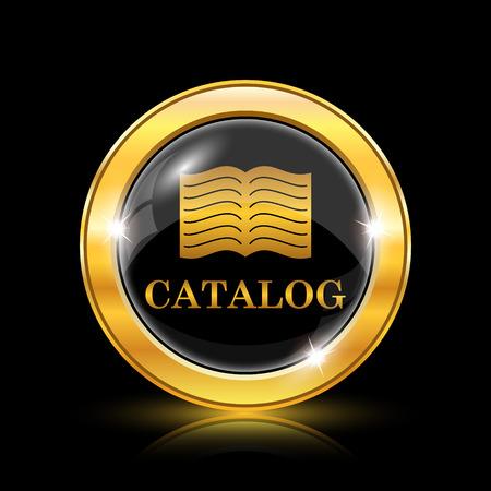 catalog: Catalogus icoon. Internet knop op een zwarte achtergrond. EPS10 vector Stock Illustratie