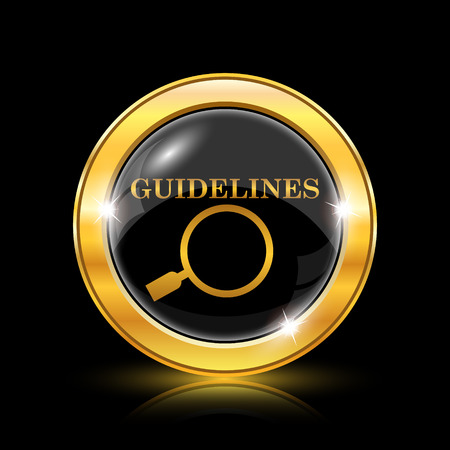 guidelines: Guidelines icon. Internet button on black background. EPS10 vector Illustration